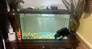 Fish tank n stand table for Sale in Houston, TX