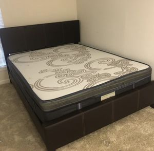 New Queen Mattress Come With Bed 🛏 Frame and Free Box spring - Free Delivery 🚚 Today for Sale in Laurel, MD