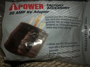 30 Amp RV Adapter for Sale in Ontario, CA