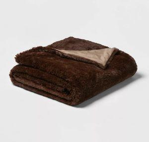 Brown fur blanket for Sale in Houston, TX