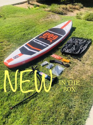 🔥 NEW 11ft SUP INFLATABLE PADDLE BOARDS - Paddle, Pump, Ankle Strap, Backpack, Dry Bag & Repair Kit! for Sale in Wildomar, CA