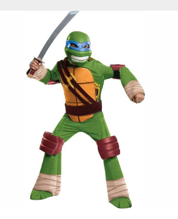 "Teenage Mutant Ninja Turtles Leonardo Child Deluxe Costume and 12"" Sewer Cover Shield Medium (8-10)"