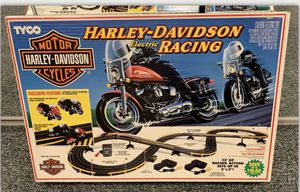 TYCO Harley Davidson 1992 Electric Racing Slot Car Complete Factory Sealed Set! for Sale in Lemont, IL