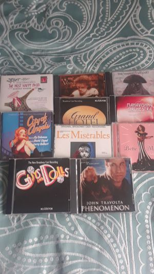 10 cds for 5.00 Broadway music and more for Sale in Seattle, WA