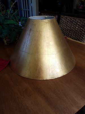 Goldleaf lamp shade for Sale in Greenville, SC