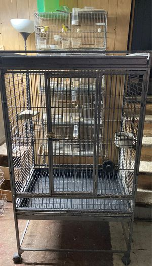 Large used bird cage for Sale in Chicago, IL