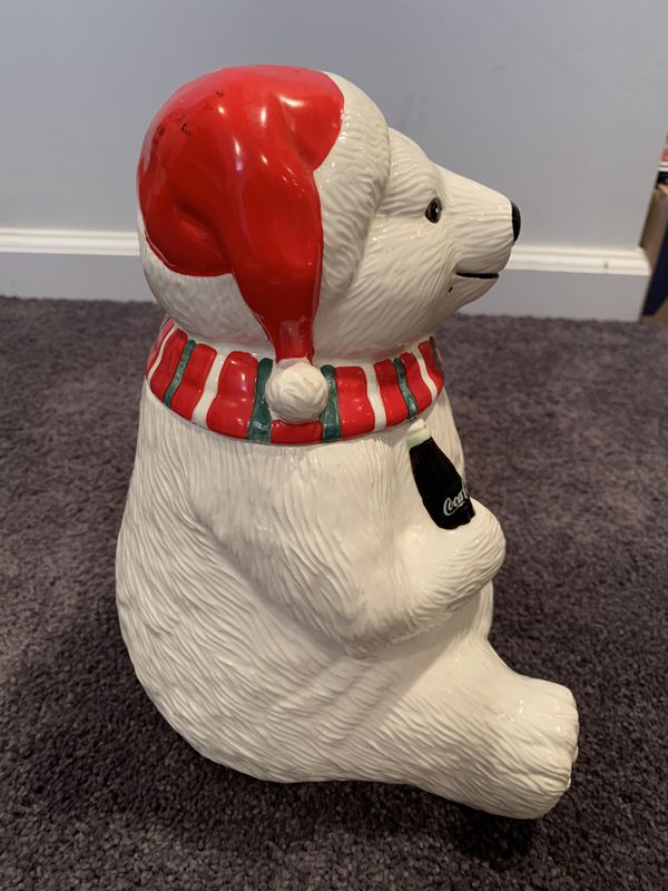 Coca Cola Coke Polar Bear Always Cool Cookie Jar