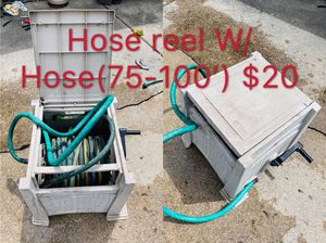 Hose reel W/ Hose(75-100') working good for Sale in Sterling Heights, MI