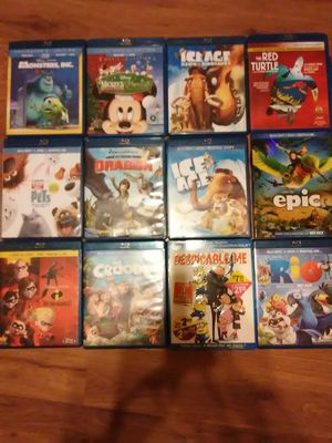 12 blu-rays the top choices for children for Sale in Fort Worth, TX