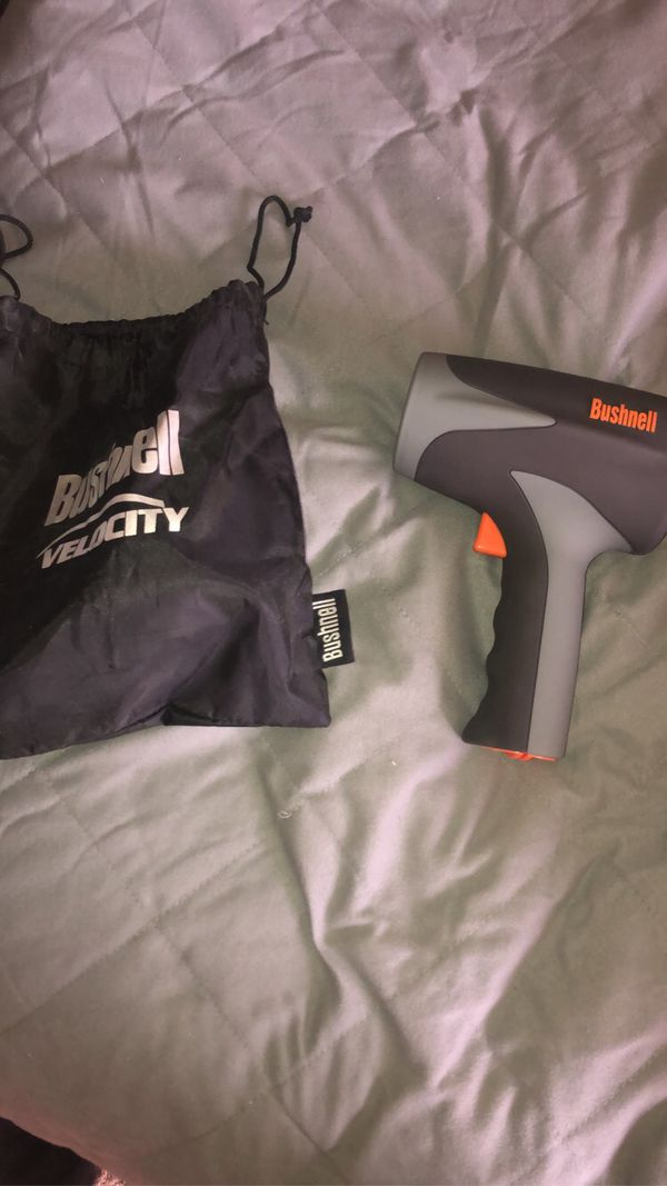 Bushnell velocity speed gun with bag, only used once