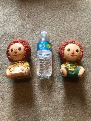 Antique Raggedy Ann and Raggedy Andy figurines for Sale in Meriden, CT
