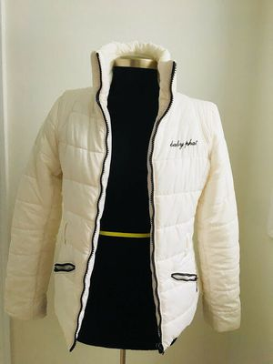 Baby Phat women Warm Winter Coat Jacket Off White Size M brand name for Sale in Grand Rapids, MI