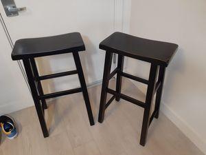 Dark brown bar stools for Sale in Spanaway, WA