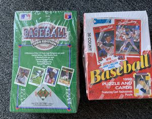 1990 Upper Deck & 1990 Donruss Baseball Card Wax Boxes. Sealed and Unopened 72 packs Sosa Rookie? for Sale in Brea, CA