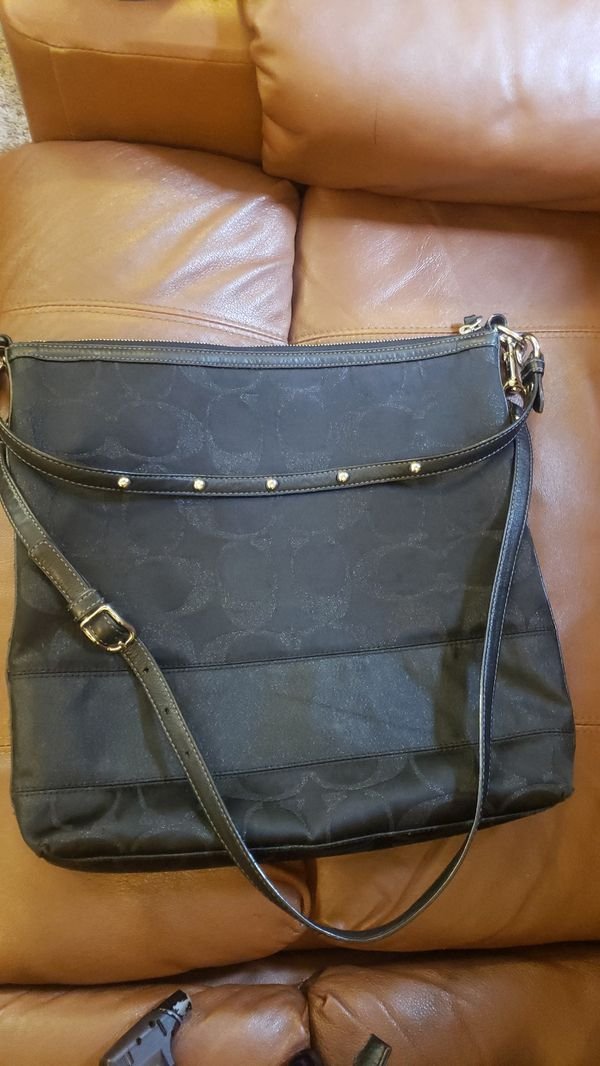 x-large Black COACH Crosby bag
