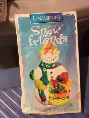 Longaberger snow friends 1997 cookie mold cutter - chilly for Sale in Export, PA