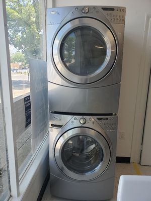 Whirpool front load washer and gas dryer set used in good condition with 90 day's warranty for Sale in Mount Rainier, MD
