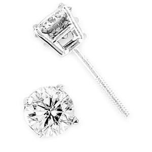0.70 Ct Round Prong Set Diamond Solitaire Lady Earrings for Sale in New York, NY