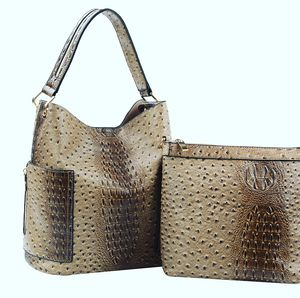 2 in 1 Embossed Ostrich Tall Hobo Handbag Purse @ Donna Sacs for Sale in Dearborn, MI