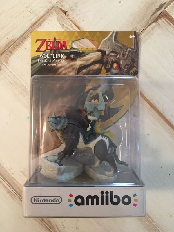 Nintendo Amiibo - Wolf Link - Legend of Zelda: Twilight Princess - Switch Wii U 3DS