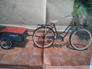 Schwinn bike with trailer for Sale in Miami, FL