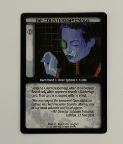 Battletech TCG ISF Counterespionage Black Wizards of the Coast CCG Trading Card for Sale in Oregon City,  OR