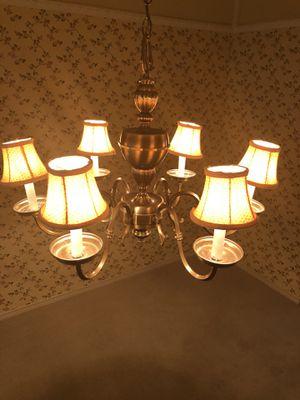 Six lamp light fixture chandelier for Sale in Dallas, TX