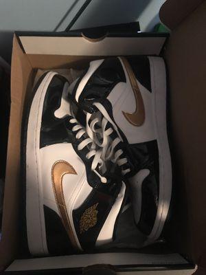 Jordan 1 Mid Black and Metallic Gold Size 12 for Sale in Salem, VA