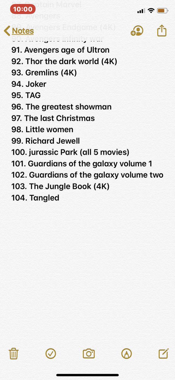 Blu-Ray/4K Movies