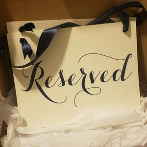 Wedding/event reserved seating signs for Sale in Sturbridge, MA