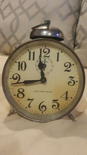 Authentic vintage silver clock for Sale in Philadelphia, PA