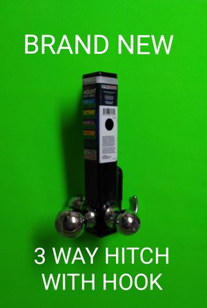 BRAND NEW 3 WAY HITCH with HOOK / SAVE $24+TAX / 💥 PRICE IS FIRM 💥 for Sale in Phoenix, AZ