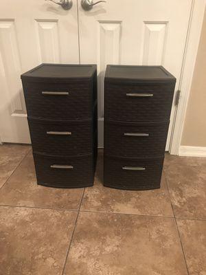 Sterlite weave 3 drawer storage (2) for Sale in Mesa, AZ
