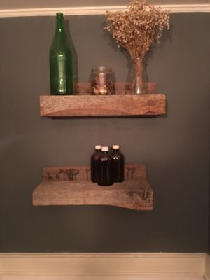 Pair of Reclaimed wood shelves made to order for Sale in Philadelphia, PA