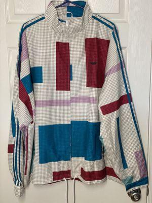 Adidas Originals Grid Block Wind Jacket Multicolor ED5511 Men's SIZE XL for Sale in Silver Spring, MD