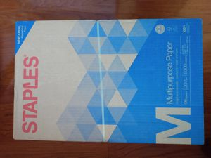 5000 Sheets (10 reams) Staples Paper for Sale in Vienna, VA