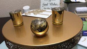 Volen gold mercury glass candles for Sale in Hialeah, FL