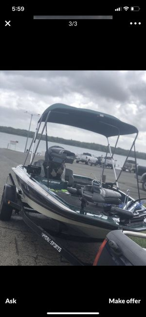 1997 Hydra sport fiberglass fishing boat with 90 hp Evinrude 2006Trailstar trailer. for Sale in Austin, TX