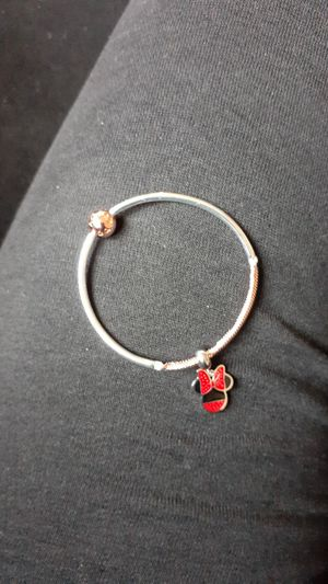 Pandora Bracelet with Minnie Mouse Charm for Sale in Romulus, MI