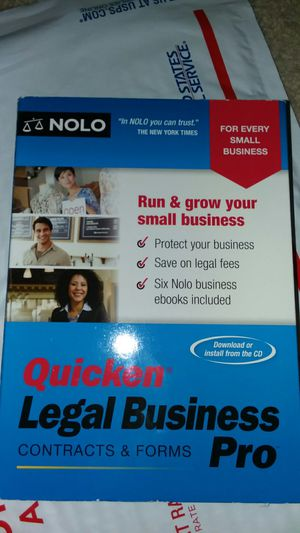 Quicken legal business pro contract and forms 2018 version for Sale in Portage, PA