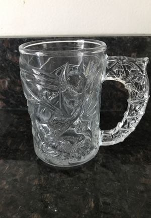 Antique 1995 comic con exclusive glass Batman cup for Sale in Rockville, MD