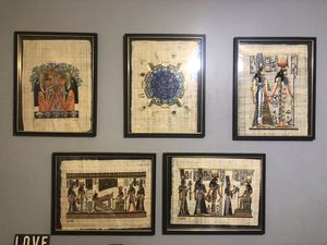 Hand painted Egyptian paintings for Sale in Battle Creek, MI