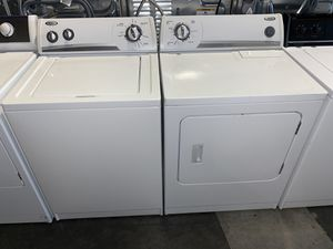 WHIRLPOOL LARGE CAPACITY TOP LOADING WASHER DRYER ELECTRIC SET for Sale in Vancouver, WA