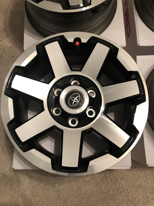 """17"""" OEM rims from a 2019 T4R TRD Off Road"""