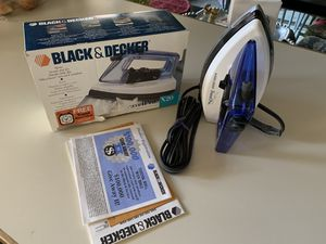 Never Used Black & Decker Steam Travel Iron with Alarm Clock for Sale in Dallas, TX