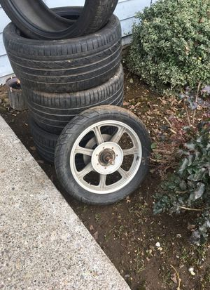 Motorcycle 18 inch wheel and tier for Sale in Sweet Home, OR