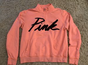 Women's Victoria's Secret medium peach 3/4 zip up sweatshirt for Sale in Orange, CA