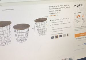 Brand new 2-piece nesting accent table set for Sale in Erie, PA