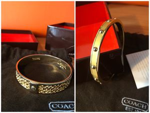 2 Coach Bangle Bracelets + bag for Sale in Glenarden, MD