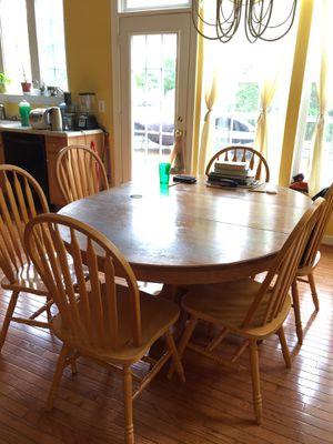 Dining set solid oak for Sale in Sully Station, VA